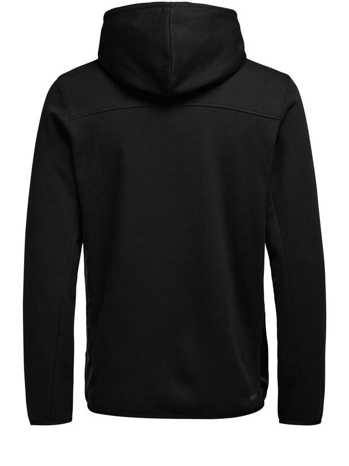 HYBRID ZIPPED SWEAT, Black, large