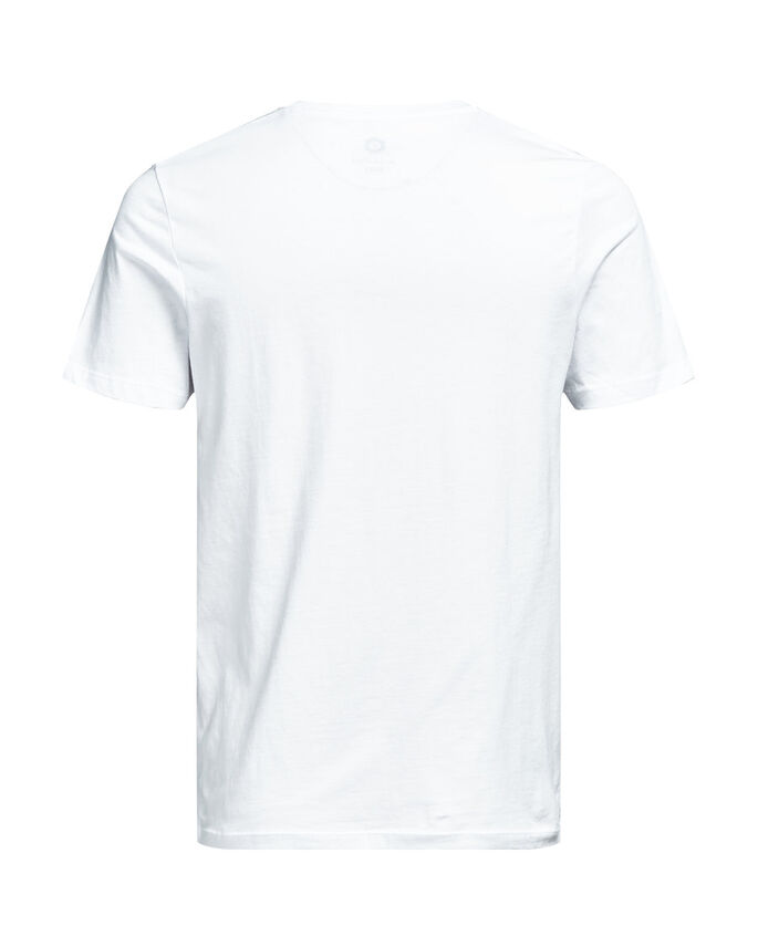 CON STAMPA FOTOGRAFICA T-SHIRT, White, large
