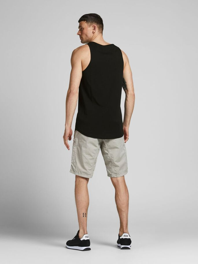 BASIC- TANK TOP, Black, large