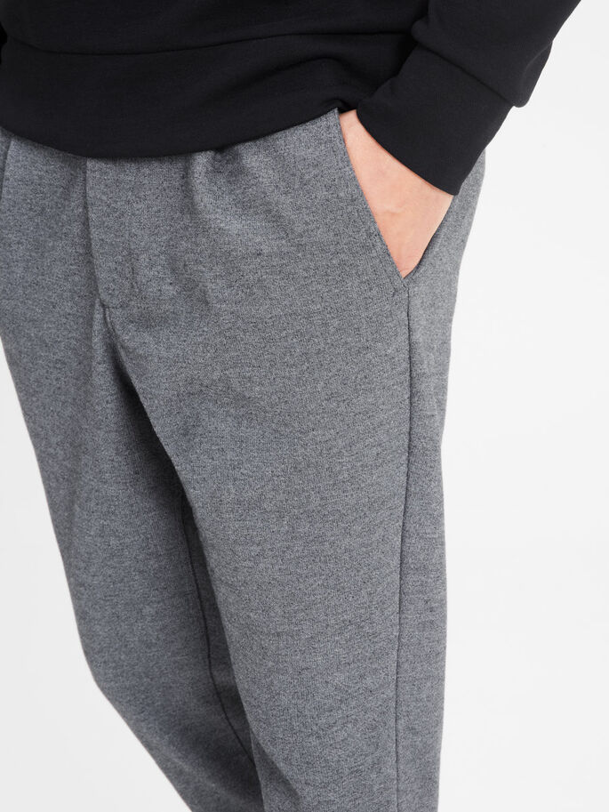 STYLE HABILLÉ JOGGING EN MOLLETON, Dark Grey Melange, large