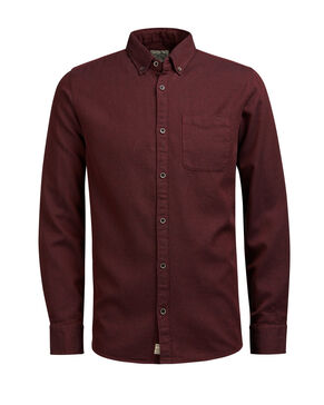 GEDESSINEERD BUTTONDOWN OVERHEMD MET LANGE MOUWEN