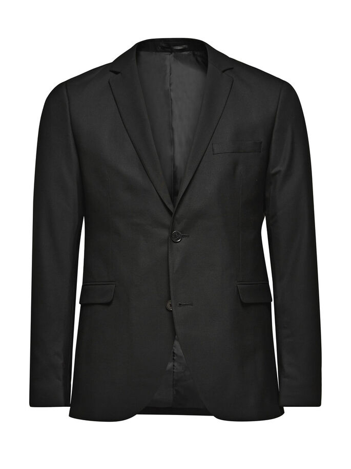 BLACK BLAZER, Black, large