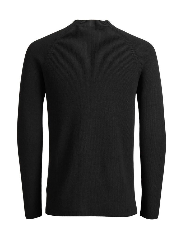 HIGH NECK PULLOVER, Black, large