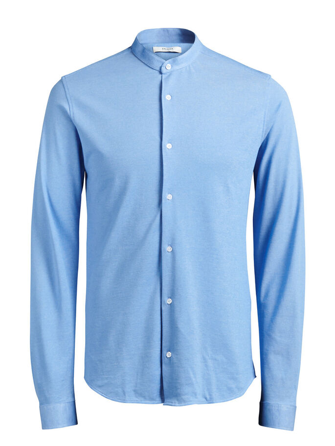 PIKEE-MAO LANGARMHEMD, Cashmere Blue, large
