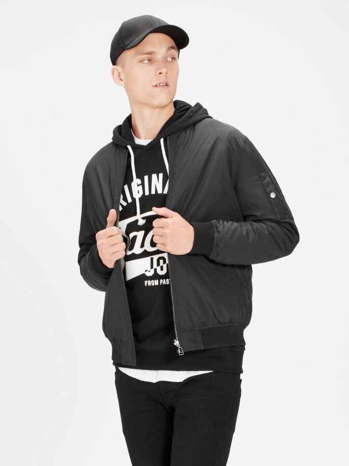 2-IN-1 JACKET, Black, large
