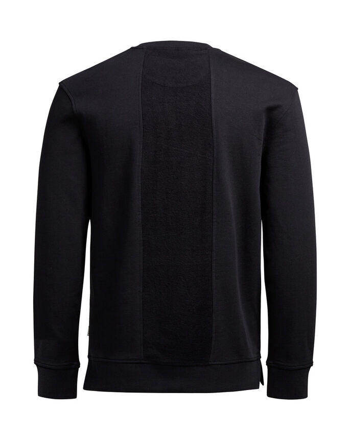 GEDETAILLEERD SWEATSHIRT, Black, large