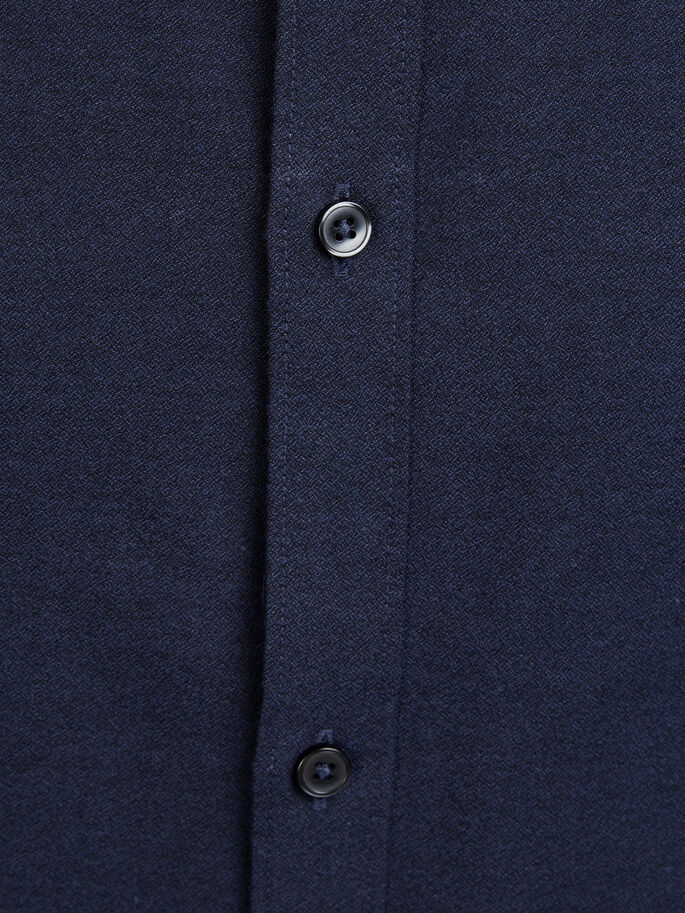 BUTTON UNDER LONG SLEEVED SHIRT, Navy Blazer, large