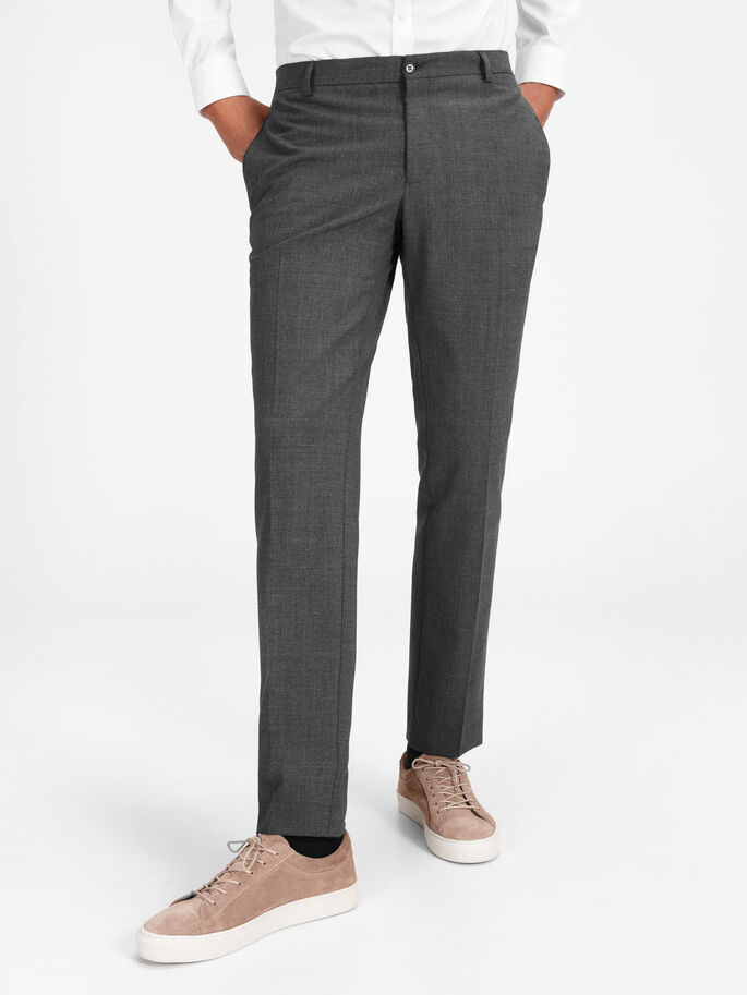 REGULAR FIT SUIT PANTS, Dark Grey, large