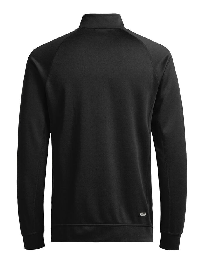 FUNKTIONELL SWEATSHIRT MED DRAGKEDJA, Black, large