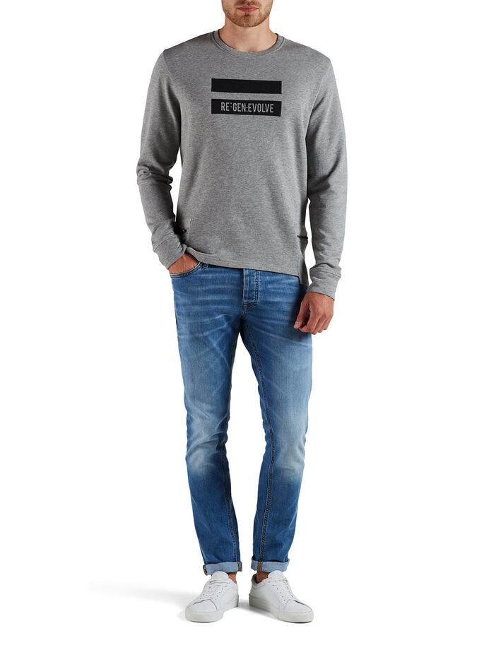 GEDETAILLEERD SWEATSHIRT, Light Grey Melange, large