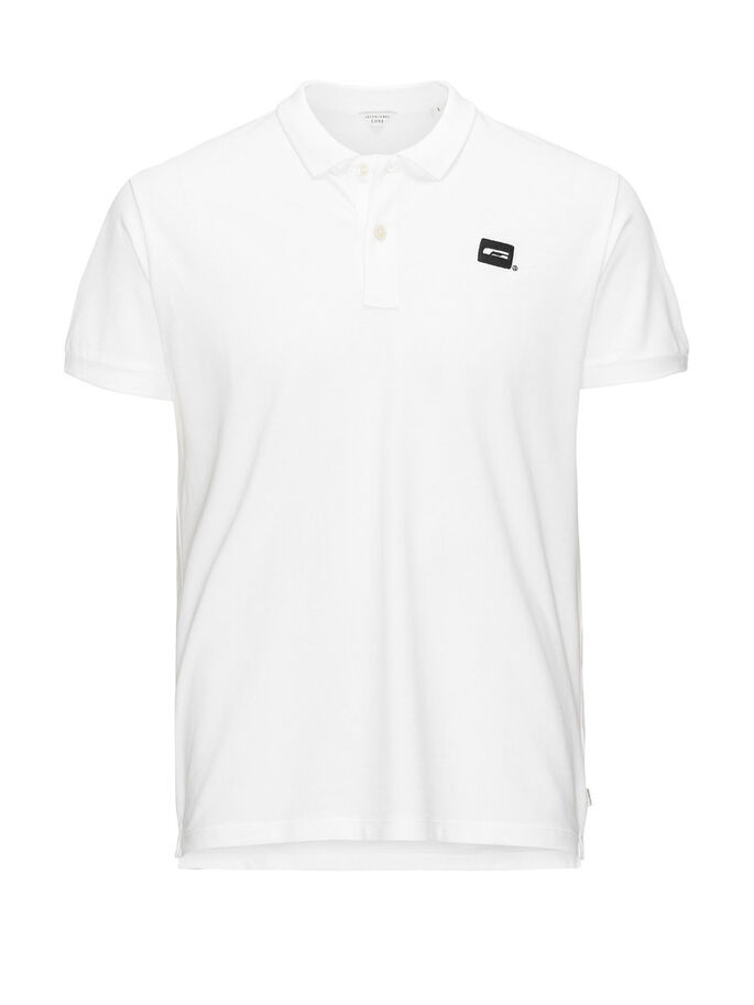 TRENDY POLOSHIRT, White, large