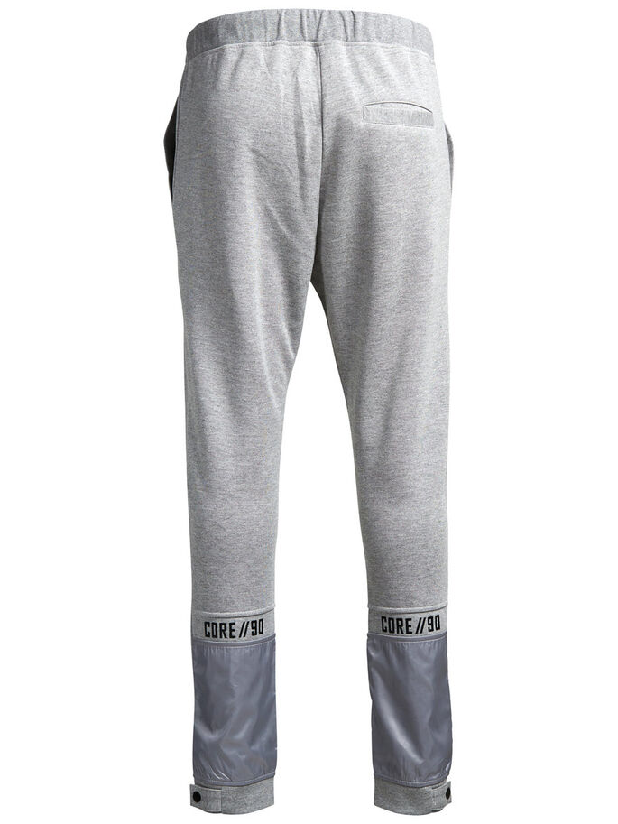 DETALJERT SWEATBUKSER, Light Grey Melange, large
