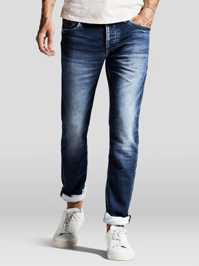 TIM LEON INDIGO-STRICK SLIM FIT JEANS