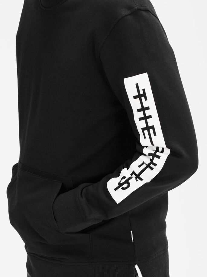 DETAILED SWEATSHIRT, Black, large