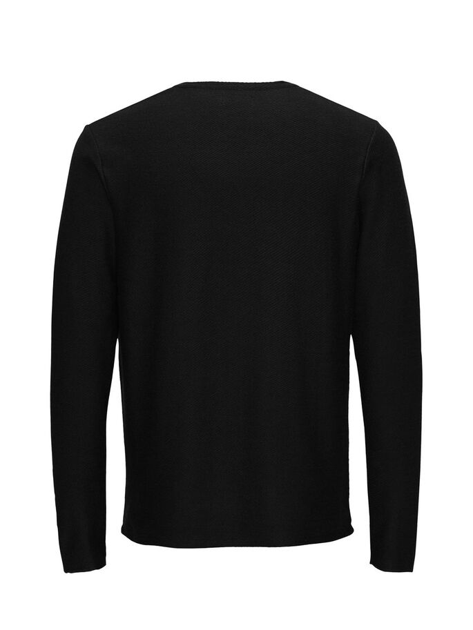 ROUGH LONG-SLEEVED T-SHIRT, Black, large