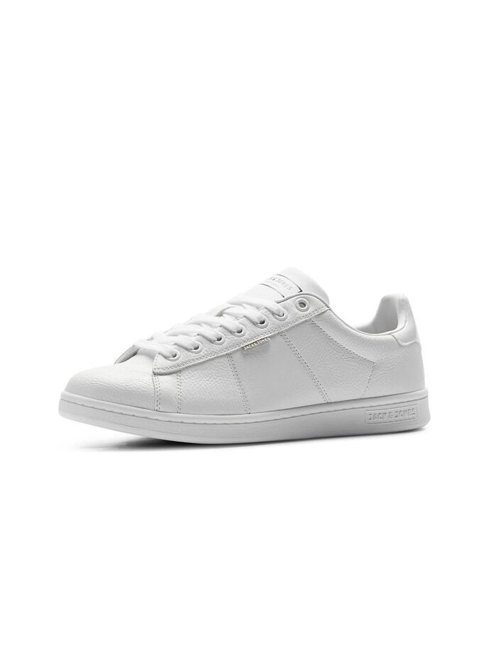 LEDERLOOK- SPORTSCHUHE, Bright White, large