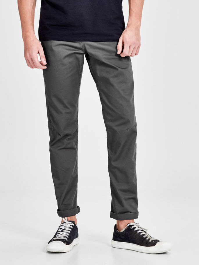 STAN ISAC AKM 249 CHAR. GREY CHINOS, Charcoal Gray, large