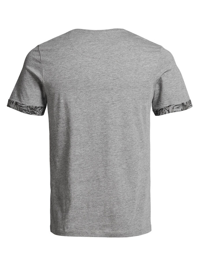 BLUMENDETAIL- T-SHIRT, Light Grey Melange, large