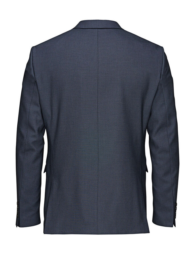 PLAIN WEAVE BLAZER, Dark Navy, large