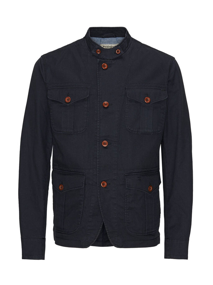 SAFARI VESTE, Dark Navy, large