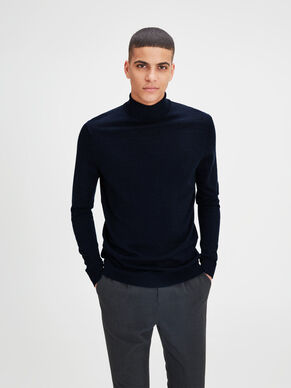 SUPER FINE MERINO WOOL KNITTED PULLOVER
