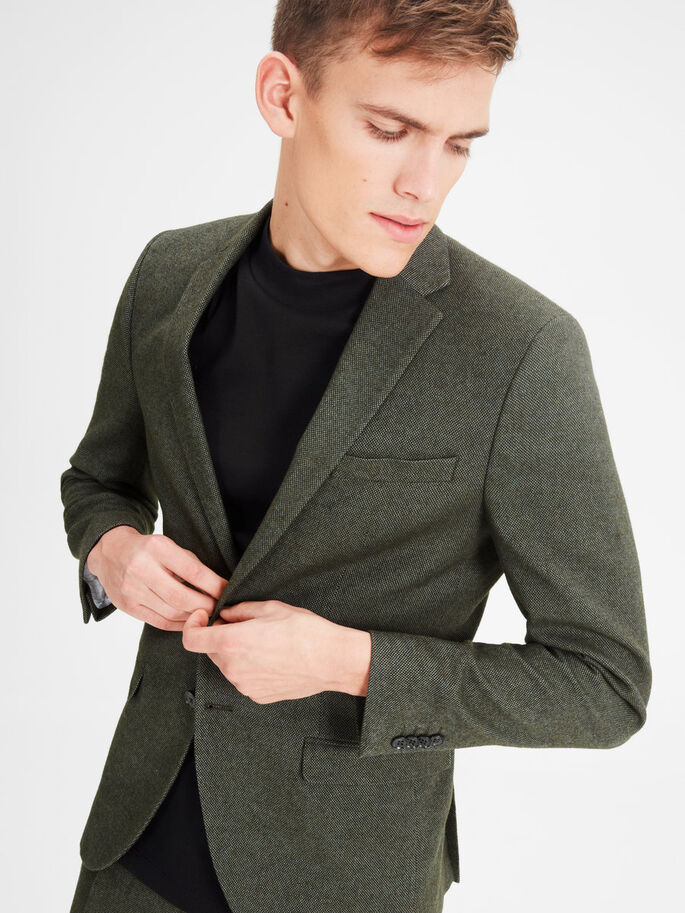 WOOL BLEND SUIT, Dusty Olive, large
