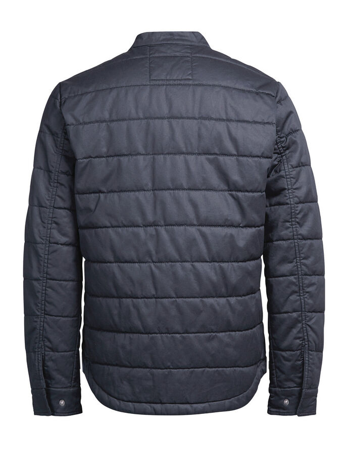 GEWACHSTE STEPPJACKE, Dark Navy, large