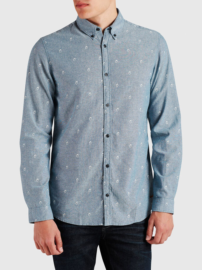 LIGHT CASUAL SHIRT, Blue Graphite, large