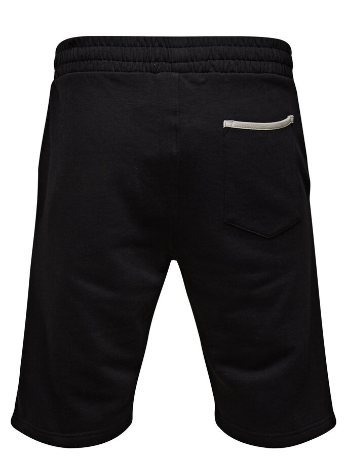 SPORTS SWEAT SHORTS, Black, large
