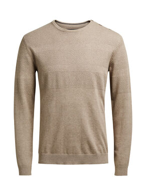 STRUCTURED CREW NECK KNITTED PULLOVER