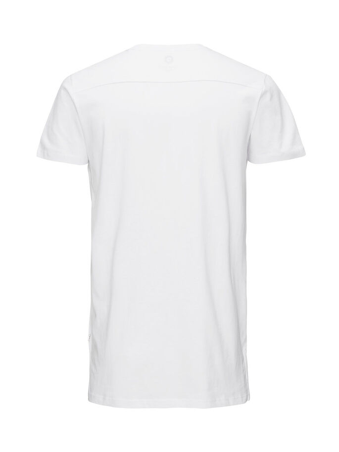 LONGLINE- T-SHIRT, White, large
