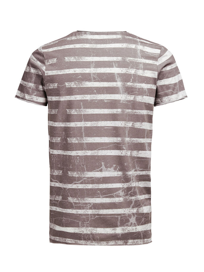 STRIPED T-SHIRT, Cloud Dancer, large