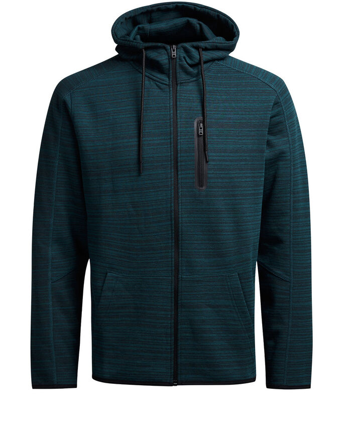 ZIP DETAIL ZIPPED SWEAT, Reflecting Pond, large