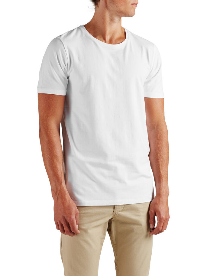 QUALITY T-SHIRT, White, large