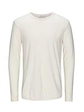 COOL LINEN BLEND LONG-SLEEVED T-SHIRT