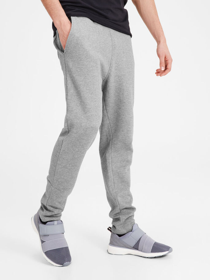 REGULAR FIT SWEATBROEK, Light Grey Melange, large