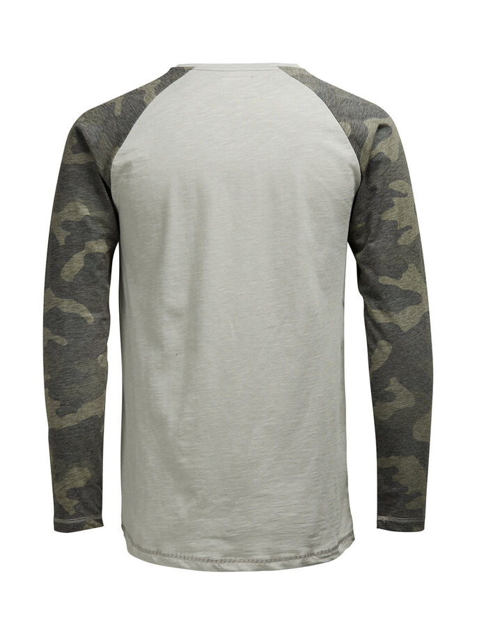RAGLAN- T-SHIRT, Charcoal Gray, large