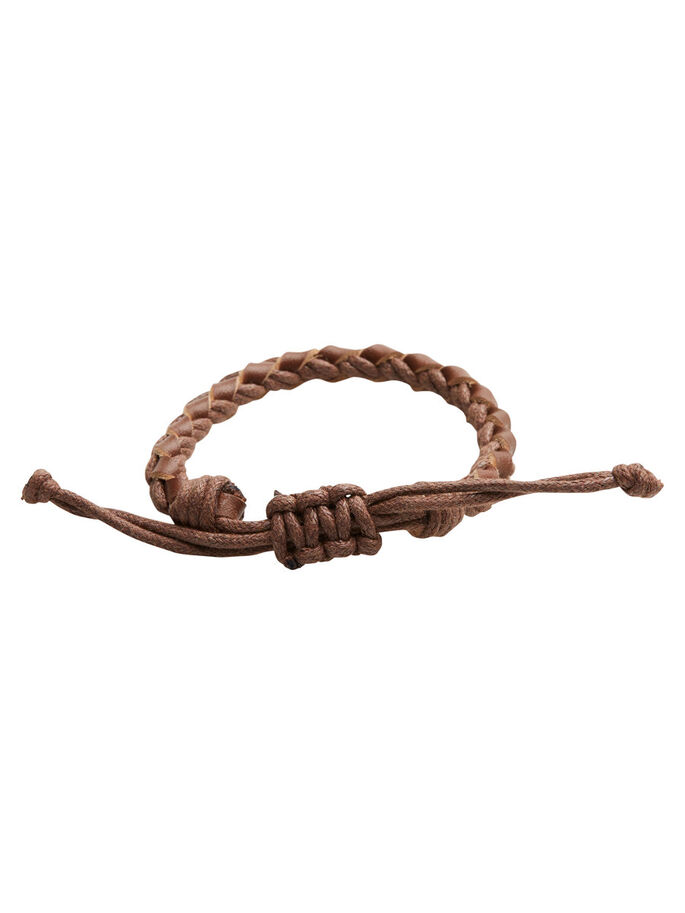 BRAIDED BRACELET, Cognac, large