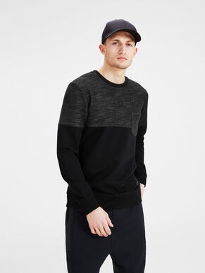 BLOCK DETAIL SWEATSHIRT