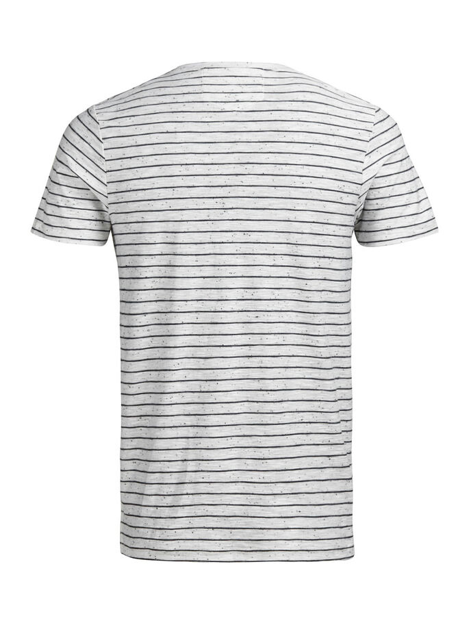 RAYURES T-SHIRT, White Melange, large