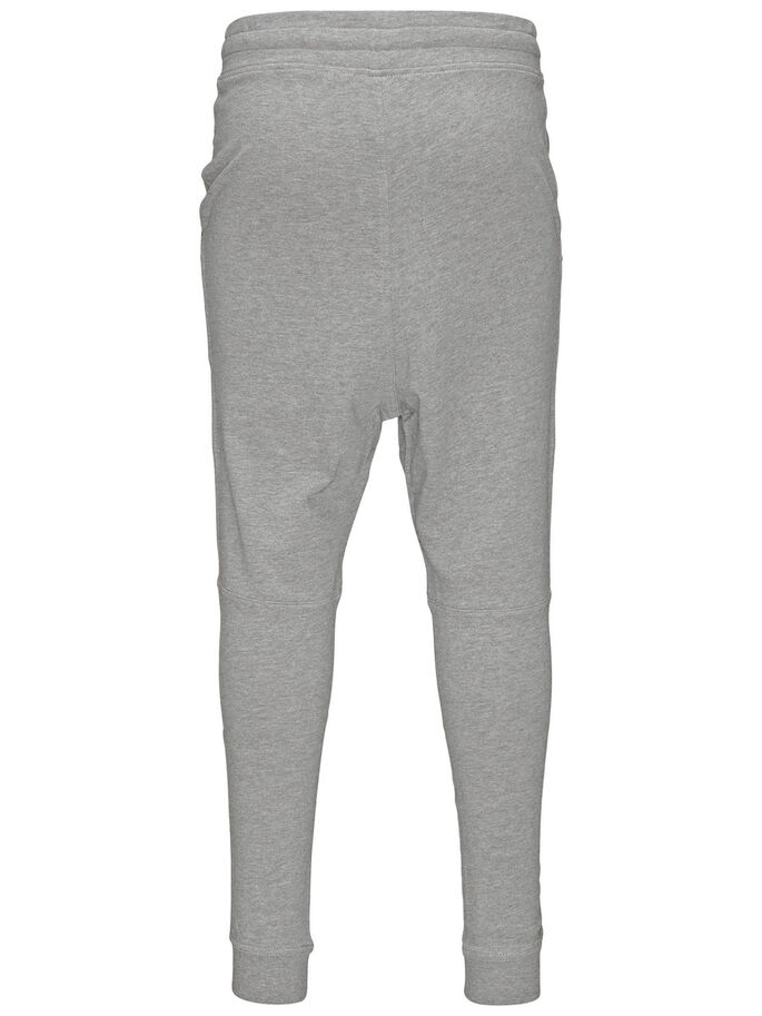TIGHT FIT SWEAT PANTS, Light Grey Melange, large