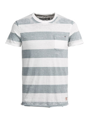 GESTREEPT BURNOUT WASH T-SHIRT