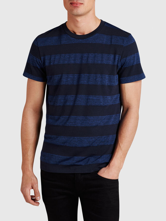 STRIPED T-SHIRT, Directoire Blue, large