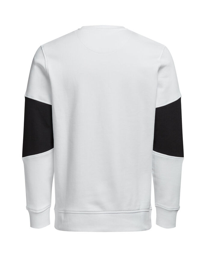 GRAFIK- SWEATSHIRT, White, large