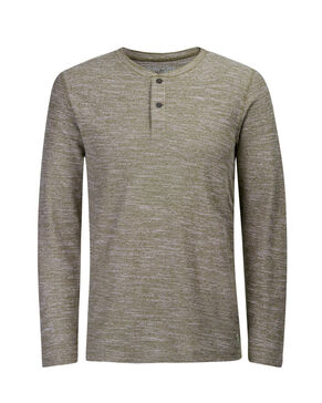 GRANDAD MELANGE LONG-SLEEVED T-SHIRT