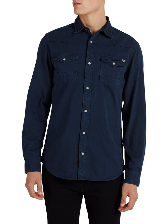 WESTERN LONG SLEEVED SHIRT, Mood Indigo, large