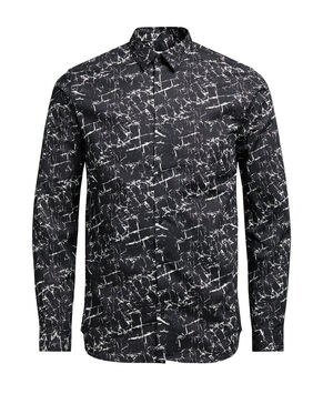 PRINTED BUTTON-UNDER LONG SLEEVED SHIRT