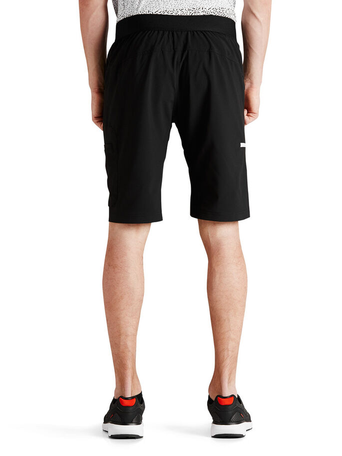 TRAINING CARGO SHORTS, Black, large