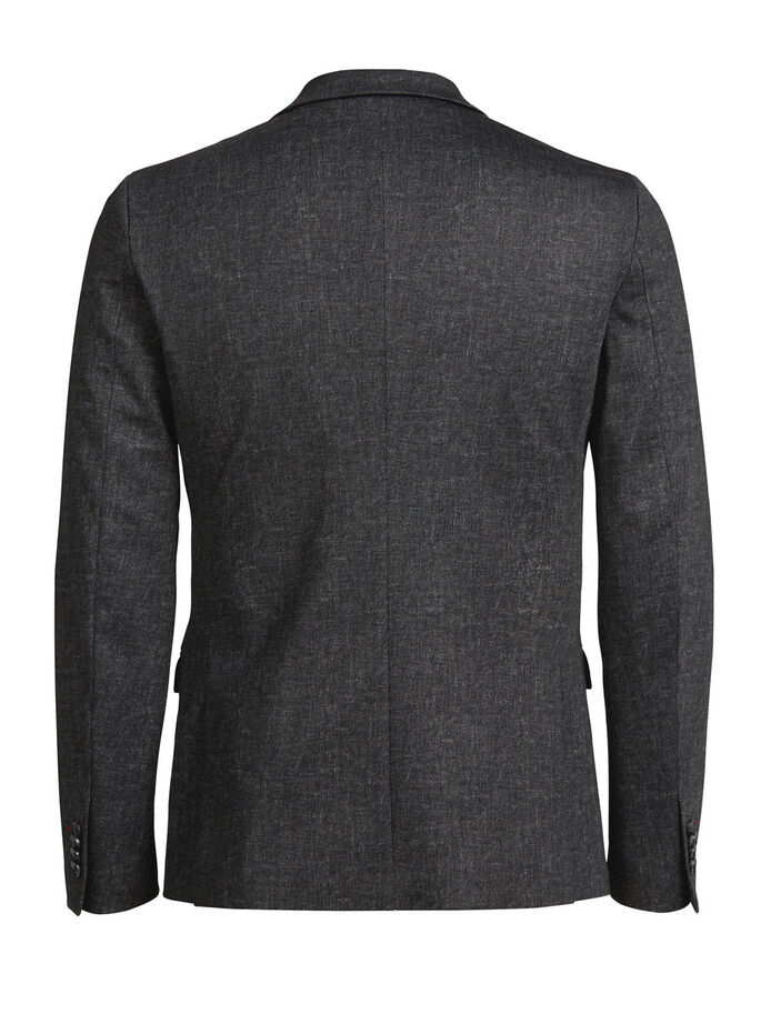 GREY MELANGE BLAZER, Dark Grey, large