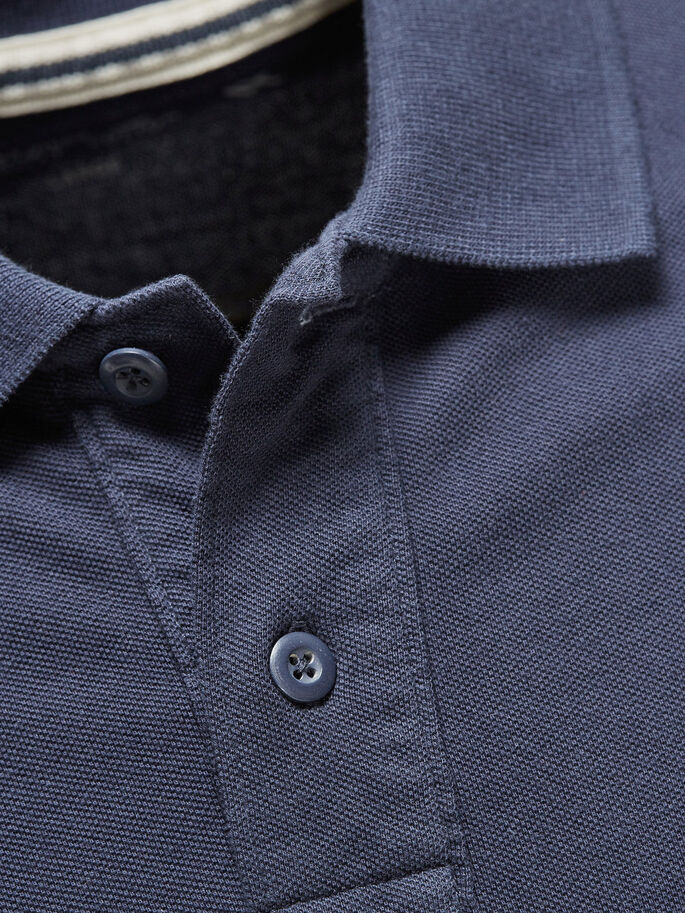 DETALJERET POLO, Mood Indigo, large